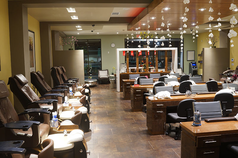 Paradise nails nail salon point loma la mesa for Photos salon design